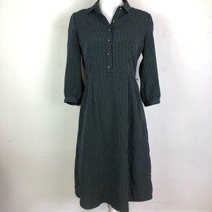 Downeast basics polka dot shirt dress A Line Med